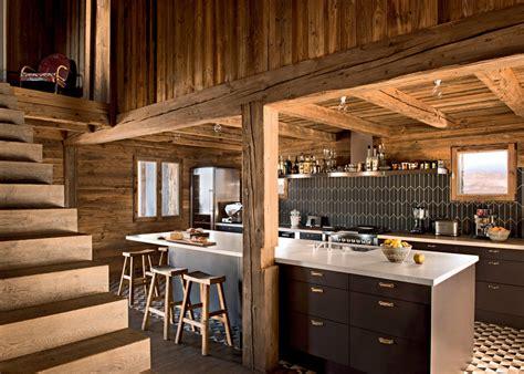 cuisine pour chalet deco chalet de montagne 2 une cuisine en bois pour une