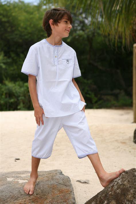 robe de chambre homme coton pyjama garçon hubert ciel l 39 orangerie