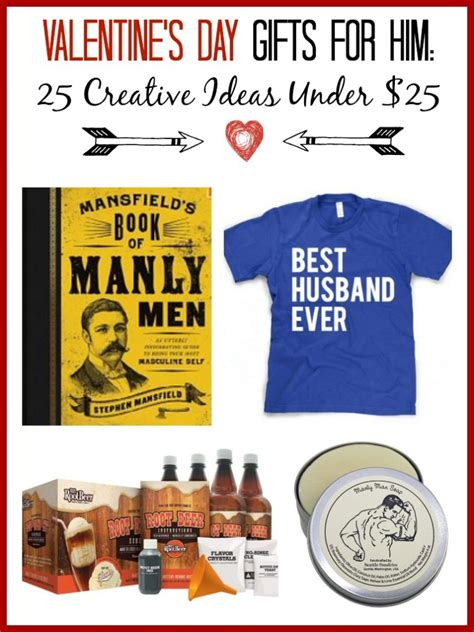 Whether you celebrate valentine's day or palentine's day, treat the special guy in your life with one of these thoughtful gifts. Valentine's Gift Ideas for Him - 25 Creative Ideas Under $25