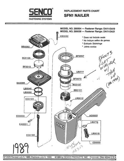Senco SFN1 Parts - Nailer