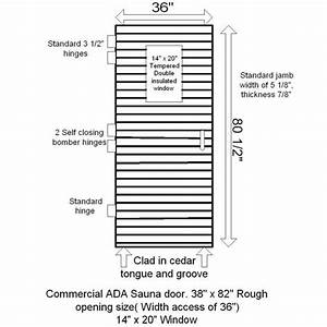 Commercial Sauna Door   14 U0026quot  X 20 U0026quot  Window