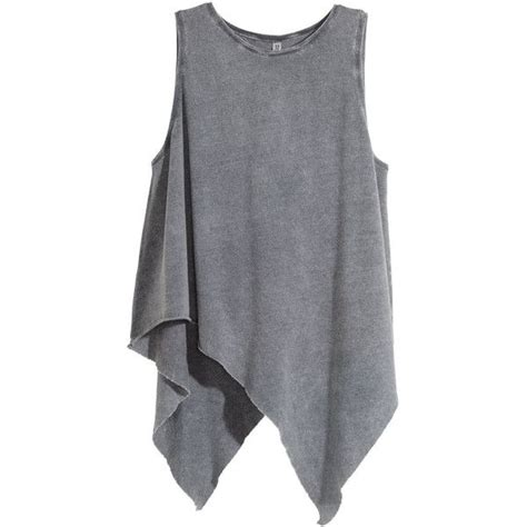 h m draped top h m draped top 20 liked on polyvore featuring tops