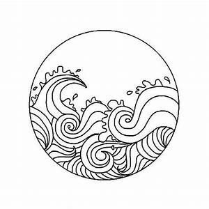 """Circular Ocean Waves Sticker"" by selinuenal13 Redbubble"