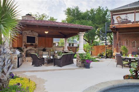 cabana backyard cabana with bar and fireplace pool side cabanas austin decks pergolas covered patios