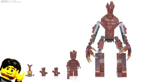 lego marvel super heroes groot figures compared youtube