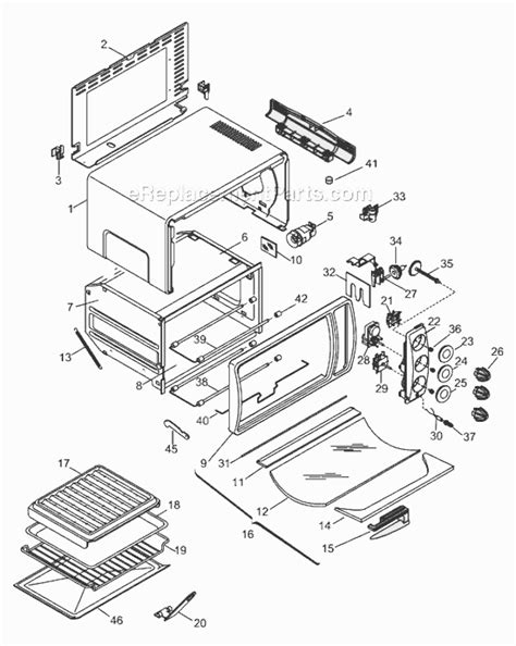 toaster oven parts delonghi eom1230 parts list and diagram