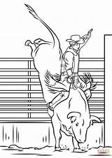 Rodeo Bull Coloring Pages Riding Printable Horse Drawings Easy Leather Bucking Cowboy Bulls Supercoloring Templates Sheets Draw Drawing Crafts Stencil sketch template
