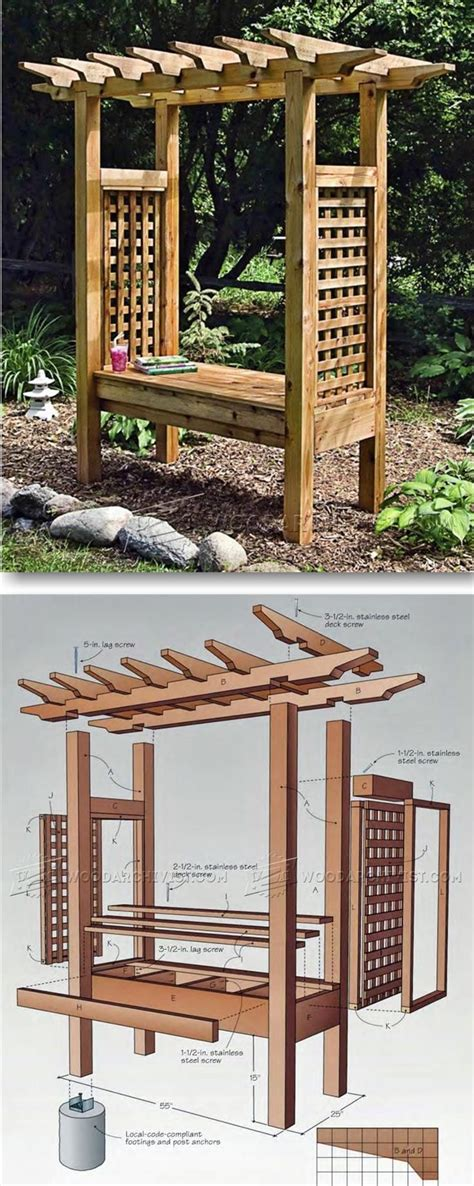 woodworking projects  beginners  arbor bench
