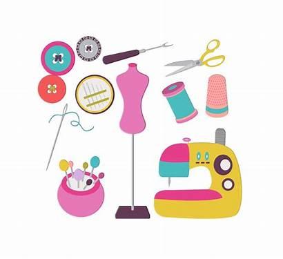 Clipart Sewing Clip Kit Graphics Supplies Seamstress