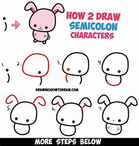 Rabbit Drawing Step By Step How To Draw A Cute Easy ...