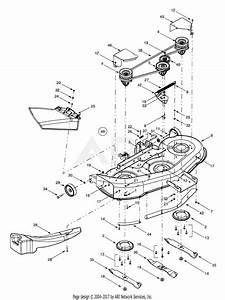 Mtd 13au624h401  2001  Parts Diagram For Deck Assembly  U0026quot H U0026quot