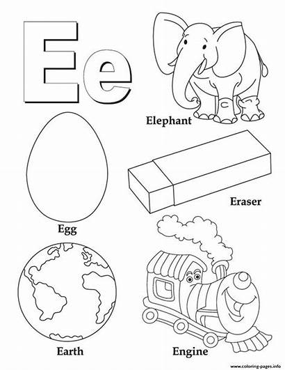 Words Coloring Alphabet Pages Printable