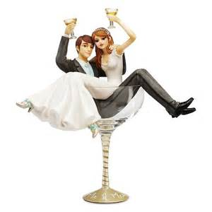glass wedding cake toppers hiccup chagne glass wedding cake topper wedding toppers