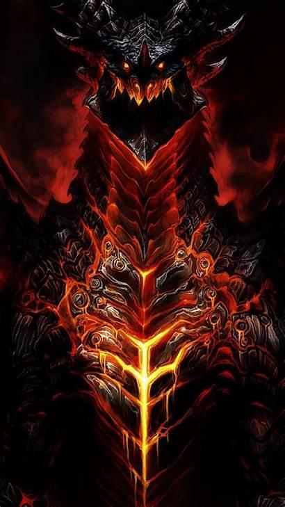 Warcraft Iphone Wallpapers Wow Dragon Demon Desktop