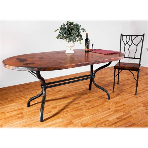 Contemporary Wrought Iron Woodland Dining Table 42in X