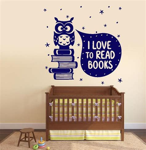 wall vinyl decal  love read books quotes decor
