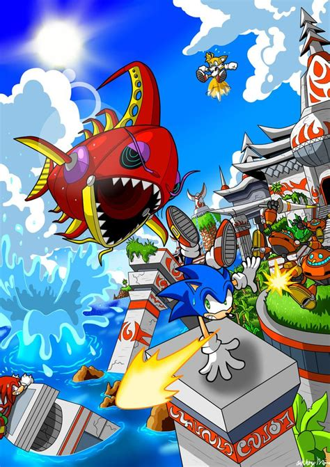 Seaside Hill Sonic The Hedgehog Fan Art Sonic Heroes