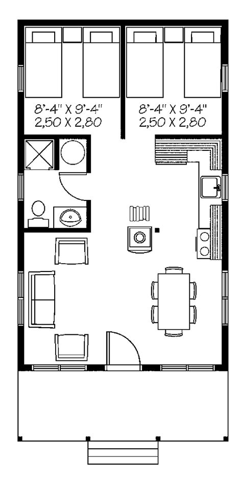 one two bedroom house plans one bedroom country hwbdo66034 country house plan from