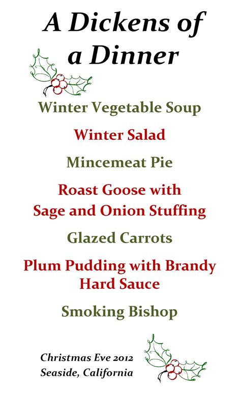 We're hosting christmas day this year, and it's been a while since we've done that so i've been researching recipes to create a traditional christmas dinner menu and i thought i'd share it with you. Culinary Adventures with Camilla: A Dickens of a Dinner ...