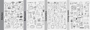 Objet Salle De Bain : croquis des objets de salle de bains illustration de vecteur image 54922018 ~ Melissatoandfro.com Idées de Décoration