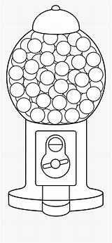 Gumball Machine Pages Transparent Colouring Clipart Clipartkey sketch template