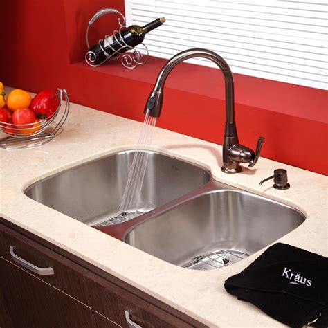 bronze kitchen faucet with stainless sink bronze faucet with stainless steel sink pictures 9317