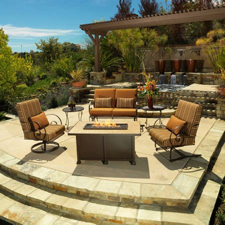 ow luxurious outdoor casual furniture and pits