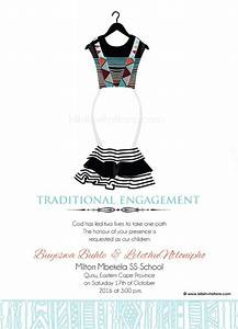 Sithandiwe xhosa traditional wedding invitation xhosa for Xhosa wedding invitations