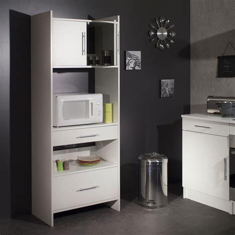 meuble a cuisine meuble desserte micro ondes l70xp40xh180cm simply