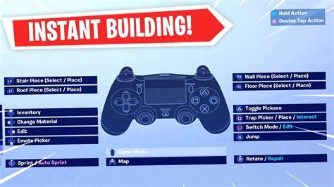 fortnite custom controller settings  building