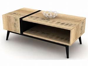 Table Alinea Bois : table basse blanc et bois alinea choix d 39 lectrom nager ~ Teatrodelosmanantiales.com Idées de Décoration
