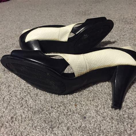 dress barn shoes dress barn dress barn black and white peep toe heels