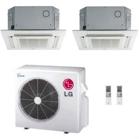 Lg Ceiling Cassette Mini Split by Lg 24k Btu Dual Zone Ceiling Cassette Ductless Mini Split