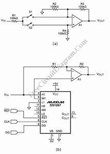 Digitally Controlled Dual Polarity Amplifier  U2013 Circuit