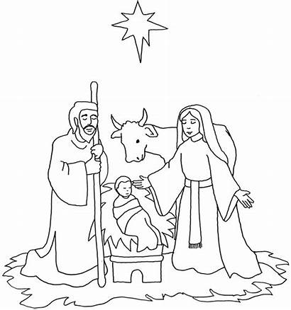 Jesus Birth Coloring Pages Drawing Nativity Colouring