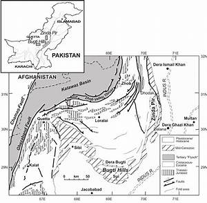 1 Geological Map Of The Sulaiman Province  Middle Indus