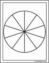 Pie Coloring Chart Section Circle Pages Shape Circles Printable Print Worksheet Colorwithfuzzy Customize sketch template