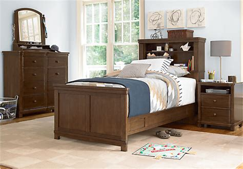Boulder Chocolate (brown) 4 Pc Twin Bookcase Bedroom