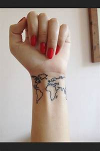 World Tattoo , Wrist Tattoo | Tattoo | Pinterest