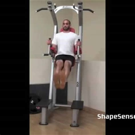 Chair Leg Raise Oblique by Exercise Leg Tuck Shapesense