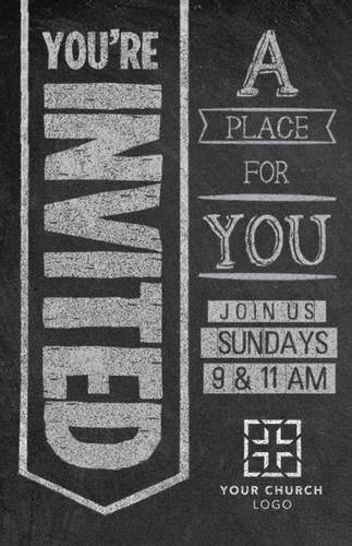 Chalkboard Art Welcome Postcard - Church Postcards