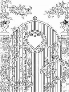 Freebie  Garden Gate Coloring Page  U2013 Stamping