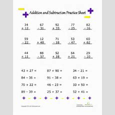 Addition And Subtraction Practice  Worksheet Educationcom
