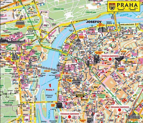 find map  prague czech republic prague tourist
