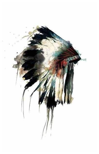 Native Illustration Google American Headdress Indian Watercolor