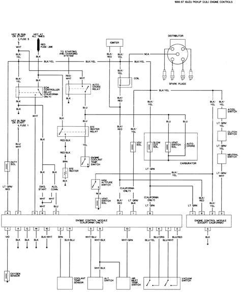 1988 Isuzu Wiring Diagram by 87 Isuzu Pup Wiring Diagram The Site Images About
