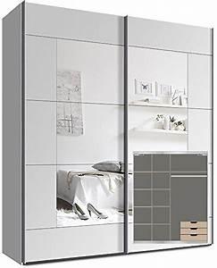 Schwebetürenschrank 200 Cm Breit : kleiderschrank mit spiegel g nstig ~ Whattoseeinmadrid.com Haus und Dekorationen