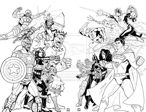 avengers vs justice league coloring pages justice league coloring pages kidsuki