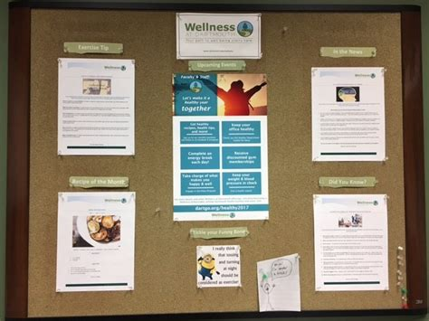 health  wellbeing notice boards