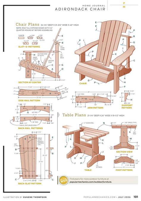 adirondack chair plan popular mechanics diy blueprint plans  stanley wood chisels